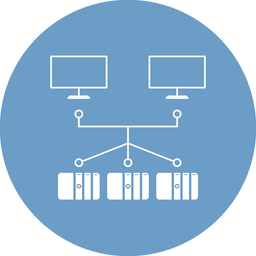 Symbol Netzwerkinfrastruktur